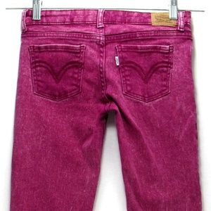 Levis 710 - Red Jeans - Size 12 Girls Super Skinny